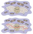 Easy bat maze vector image vector image