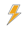 electric lightning bolt with shading effects vector image vector image
