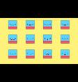 Eraser emoji vector image vector image