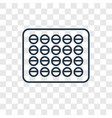 fat concept linear icon isolated on transparent vector image