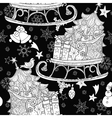 Hand drawn Christmas doodle sketch sledge vector image