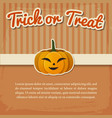 happy halloween greeting poster vector image vector image