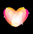 happy valentines day logo unusual vector image vector image