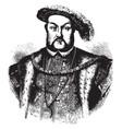 henry viii king of england vintage vector image vector image
