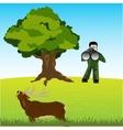 Huntsman on deer vector image vector image