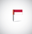Indonesia flag pin vector image vector image