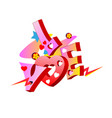 love word graffiti street art urban design vector image vector image