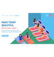 make today beautiful horizontal banner fitness vector image vector image