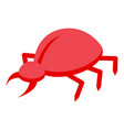 malware bug icon isometric style vector image vector image