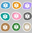 Medicine symbols Multicolored paper stickers vector image