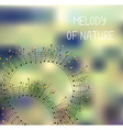 Melody of nature - romantic background with notes vector image