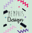 memphis colorful background design vector image