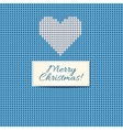 merry christmas scandinavian knitted card vector image