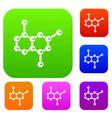 molecule set collection vector image vector image
