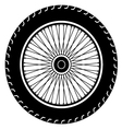 motorcycle wheel vector image