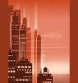 night city city scene skyscrapers towers vector image vector image