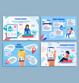 pharmacy online service flat web banners vector image vector image