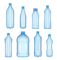 plastic bottles for water realistic vector image vector image