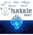 Polar bear day vector image vector image