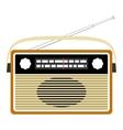 Radio retro realistic vector image