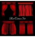 Red curtains on transparent background vector image