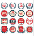 retro vintage sale badges and labels collection vector image vector image
