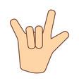 rock hand icon vector image vector image