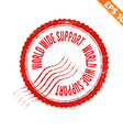 Rubber stamp world wide support - - EPS10 vector image vector image