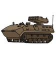 Sand track armoured vehicle vector image