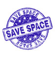 scratched textured save space stamp seal vector image vector image
