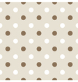Seamless retro pattern with dots vector image vector image