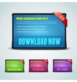 Set of 4 download banners for your website vector image