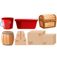 set of different containers vector image vector image
