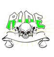 skulls ride vector image