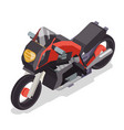 sport race motorbike vehicle isometric flat bike vector image