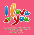 sticker style card i love you vector image