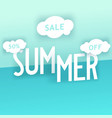 summer sale creative composition vector image vector image