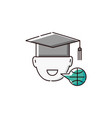 symbol online foreign language studying sketch vector image vector image