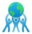 Teamwork Earth Logo vector image vector image