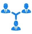 Teamwork Grainy Texture Icon vector image vector image