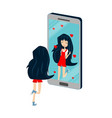 teenager-female-smartphone-addiction1 vector image vector image