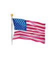 USA Flag Stars and Stripes Low Polygon vector image
