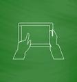 Use Tablet computer symbol vector image vector image