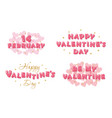 valentines day banners set decorative glossy vector image