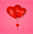 valentines day greeting card couple air balloons vector image vector image