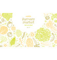 vegetarian background with natural organic vector image vector image