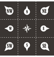 wild rose icon set vector image vector image