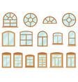 window in various type flat design vector image vector image