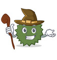 witch durian mascot cartoon style vector image vector image
