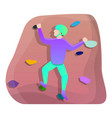 young wall climber icon cartoon style vector image vector image